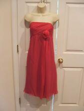 NWT ORG $268 Suzi Chin Strapless 100% Silk Dress Fuchsia Size 8