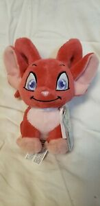 "Neopets RED ACARA Plush Toy Stuffed Animal 6"" Jakks Pacific Ser 5 NEW w/code"
