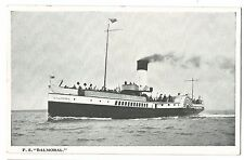 PS Balmoral PPC, Unposted, Paddle Steamer , Built 1900 by S McKnight at Ayr