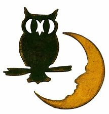 Sizzix Mini Owl & Crescent Moon magnetic die set #658725 MSRP $15.99 Tim Holtz!!