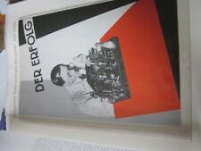 Rundfunk Edition 5 Tungsram Serienröhren Prospekt 1930