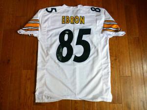 Eric Ebron Signed Steelers Custom White Jersey Size XL Beckett