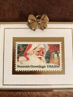 Vintage Christmas Ornament Santa Claus Stamp Hanford Heirlooms 1983