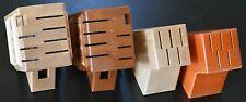 Block for knives wooden brown or natural rack set holder storage kitchen