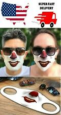 SCARY CLOWN MASK FACE COVER BREATHABLE FABRIC WASHABLE REUSABLE SOFT USA FAST