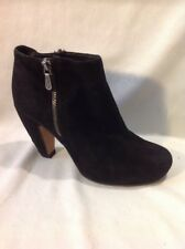 Clarks Black Ankle Suede Boots Size 4D