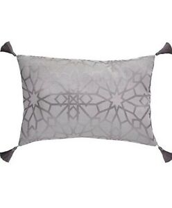 Michelle Keegan Home Mirage Boudoir Cushion, Grey 30x 50cm RRP £19