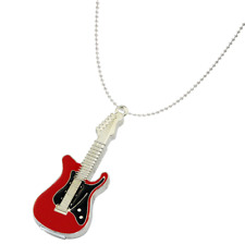 METAL 8GB GUITAR SHAPED USB FLASH DRIVE NECKLACE MUSICAL INSTRUMENT THUMB STICK