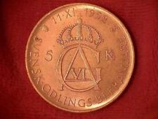 1952 Sweden 5 Kronor .400 Silver Content