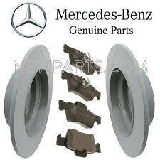 Mercedes W210 W211 E320 E350 E500 Rear Brake Pad Set & 2 Disc Rotors Kit Genuine