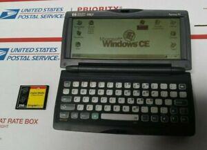 HP 320LX Palmtop PCP DA Windows CE w/ Stylus + 256MB CF Card Tested Works