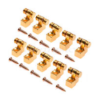 10Pcs Electric Guitar String Trees Retainer Gold  Roller Style