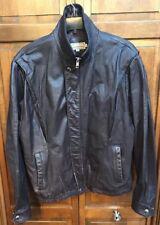 Christopher Street Leather Bomber Motorcycle Jacket Brown Men 42 L Vintage