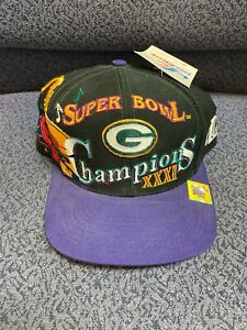 SUPER BOWL XXXI GREEN BAY PACKERS Championship Hat Cap NEW Logo Athletic
