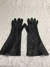 Vintage Long Soft Leather Gloves 7 1/2