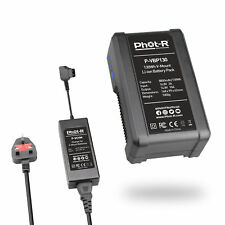 Phot-R V-Mount 8800mAh 130Wh Rechargeable Li-ion Battery Pack + Charger