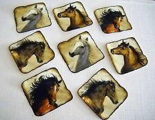 HORSE APPLIQUES FABRIC  IRON ON SET OF 8  #98