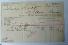 1890 Billhead Hoole Manufacturing Co Dealers of Railway Supplies  NY DL&WRR