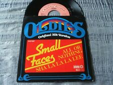 Small Faces All or Nothing b/w Sha La La La Lee German 70s Oldies Re-Issue 45 EX