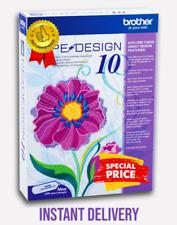 BROTHER PE Design 10 Software Completo di embroidery Ricamo CONSEGNA DIGITALE