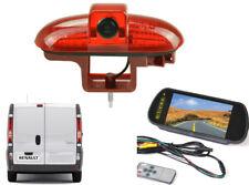 Oval Reversing Camera Kit and Mirror Monitor For Vauxhall Vivaro Van 2001 - 2014
