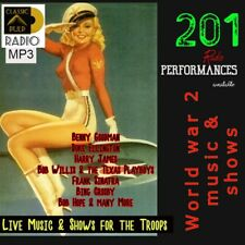 World War 2 - Live music shows performed for the troops - 201 performances