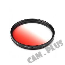 67mm Diameter Optical Gradual Red Lens Filter For Samsung Leica Zeiss Fujifilm