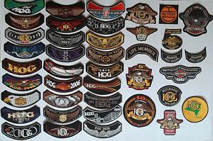 patch tissu HOG Harley Davidson Owners Group (36 versions disponibles)