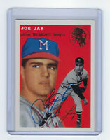 1954 BRAVES Joey Jay signed card Topps Archives #141 Milwaukee Autographed AUTO