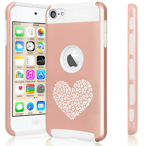 For Apple iPod Touch 5th 6th Shockproof Hard Case Cover Leopard Print Love Heart