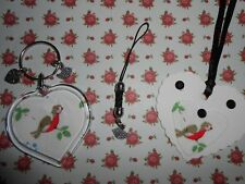 CATH KIDSTON  BIRDS AND ROSES KEYRING+MOBILE CHARM+GIFT TAG-HANDMADE+GIFT BAGS