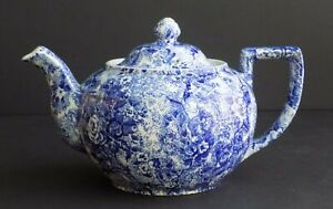 BURLEIGH CALICO STAFFORDSHIRE ENGLAND TEA COFFEE POT