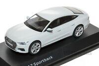 Audi A7 Sportback White, official Audi dealership model, 1:43 scale, car gift