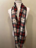 Vintage Sutter Creek LEvi Strause & Co Wool Blend Tartan Plaid Scarf Korea