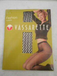 Vassarette Fashion Hosiery Chaotic Web Net Pantyhose Black Size Med
