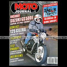 MOTO JOURNAL N°870 ELF KAWASAKI GPZ 500 S GSE SUZUKI GILERA MX 125 XR SITO PONS