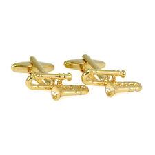 Color Oro Trombone Gemelli Nuovo E Imballato wind ottone famiglia AJ233