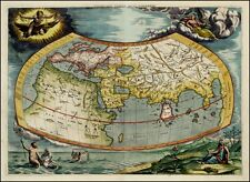 Decorative Olde Worlde Repro Old Antique Map Plan Poster Print Picture NEW
