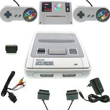Super Nintendo SNES consola todos los cables 2 Controller juego buen estado