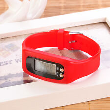 1X Lcd Pedometer Wrist Watch Bracelet Sport Calorie Step Running Counter Fitness