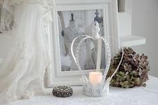 Teelichthalter Krone XL Metallkrone Shabby Chic Vintage Landhaus