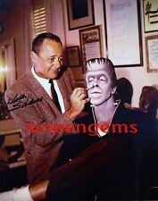 The Munsters signed photo makeup artist Karl Silvera Fred Gwynne Frankenstein TV