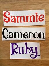 Personalised Vinyl Name Decal For Water Bottles, flasks, drink cups, lunch box