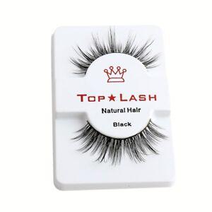 TOP LASH 3D 100% MINK LUXURY FALSE LASHES FAKE EYELASHES LONG THICK VOLUME UK/bw