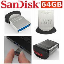 USB Drive 64GB SanDisk Ultra Fit CZ43 USB 3.0 Mini Flash Drive Memory Stick NEW