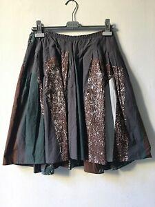 Vintage Marni runway spring 2006 pleated abstract print skirt S / US 4 pristine