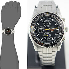 Casio MTP4500D-1A Mens Stainless Steel Dress Watch 50M 1-Sec Chronograph New