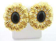 KJL Kenneth Jay Lane Simulated Black Onyx New York Collection Earrings