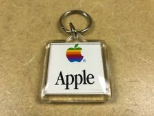 Apple Computer Mac OS Keychain with Colorful Rainbow Logo -- Vintage Collector
