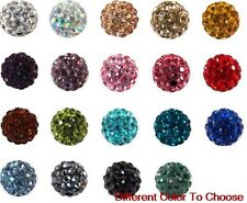 150pcs/lot 10mm mixed micro pave disco crystal shamballa beads bracelet spacer